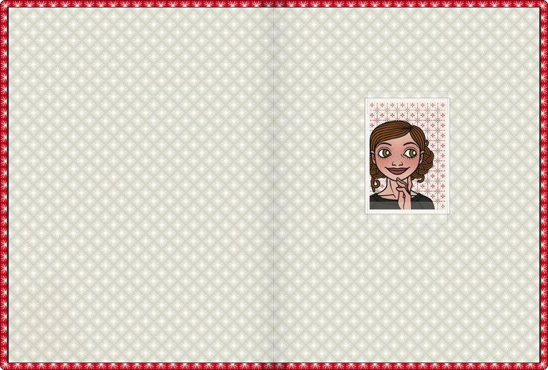 Vorsatzblatt mit Passbild in Das Lily Lux Notizbuch