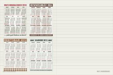 Sonderseite mit kleinen Kalendern zum selber Ausdrucken und Einkleben oder Einheften ins Lily Lux Notizbuch