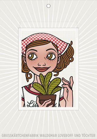 Lily Lux Elektronisches Grußkärtchen mit Topfpflanze
