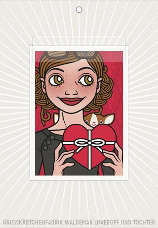 Lily Lux Elektronisches Grußkärtchen mit Herz zum Valentinstag