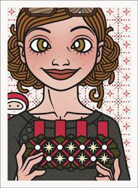 Lily Lux Passbild mit Adventskranz vor dem Anzünden