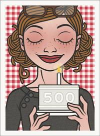 Lily Lux Passbild mit Törtchen zur Feier der 500 Posts im Blog