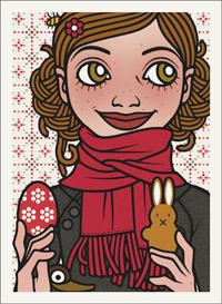 Lily Lux Passbild mit Osterei und Osterhase