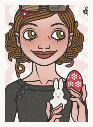 Lily Lux Passbild mit Hummel und Osterhase