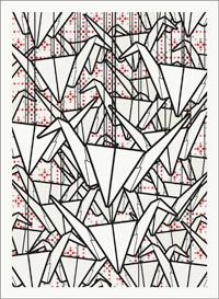 Passbild mit vielen selbstgebastelten Papierkranichen
