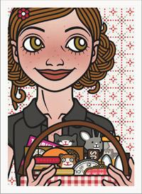 Passbild mit Lily Lux und Picknickkorb