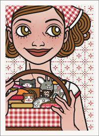 Lily Lux Passbild mit Picknickkorb
