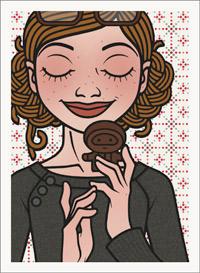 Lily Lux Passbild mit einem leckeren Schokonikolaus