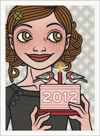Lily Lux Passbild mit Törtchen und Kerzen