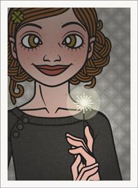 Lily Lux Passbild mit Wunderkerze