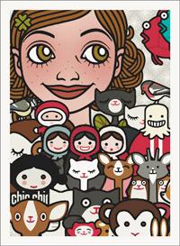 Lily Lux Passbild mit allen Freunden und Figuren