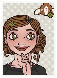 Lily Lux Passbild mit Reh und Glücksklee