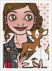 Lily Lux Passbild mit Rehen zum großen Rehrätsel