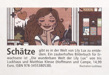 Lily Lux in der Münsterschen Zeitung