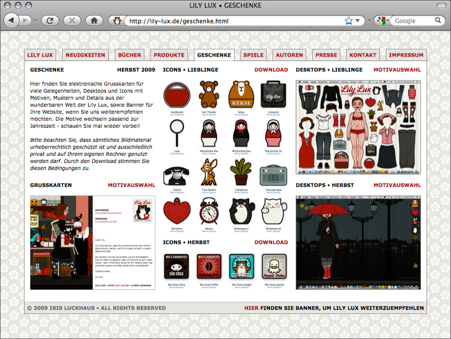 Geschenke für Lily Lux Online