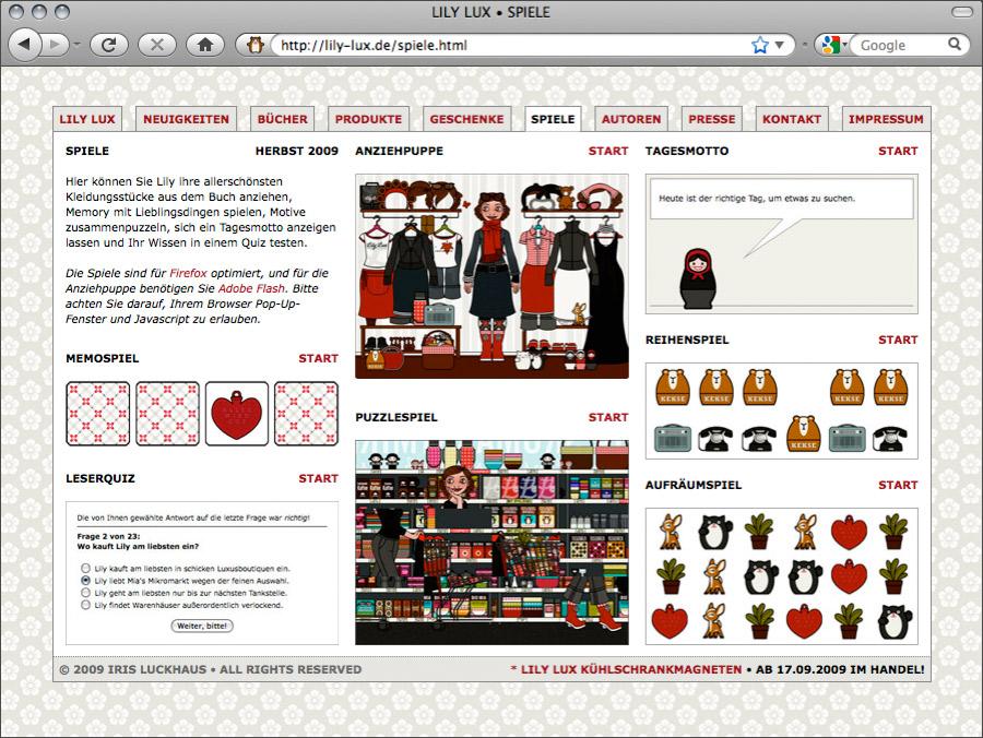 Spiele für Lily Lux Online